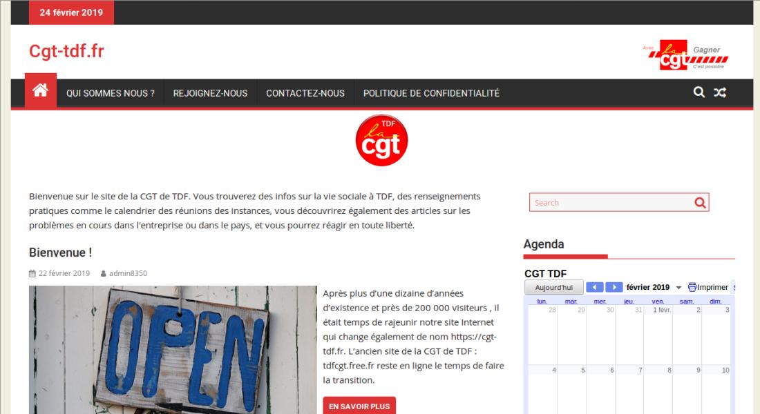 Le site de la CGT de TDF