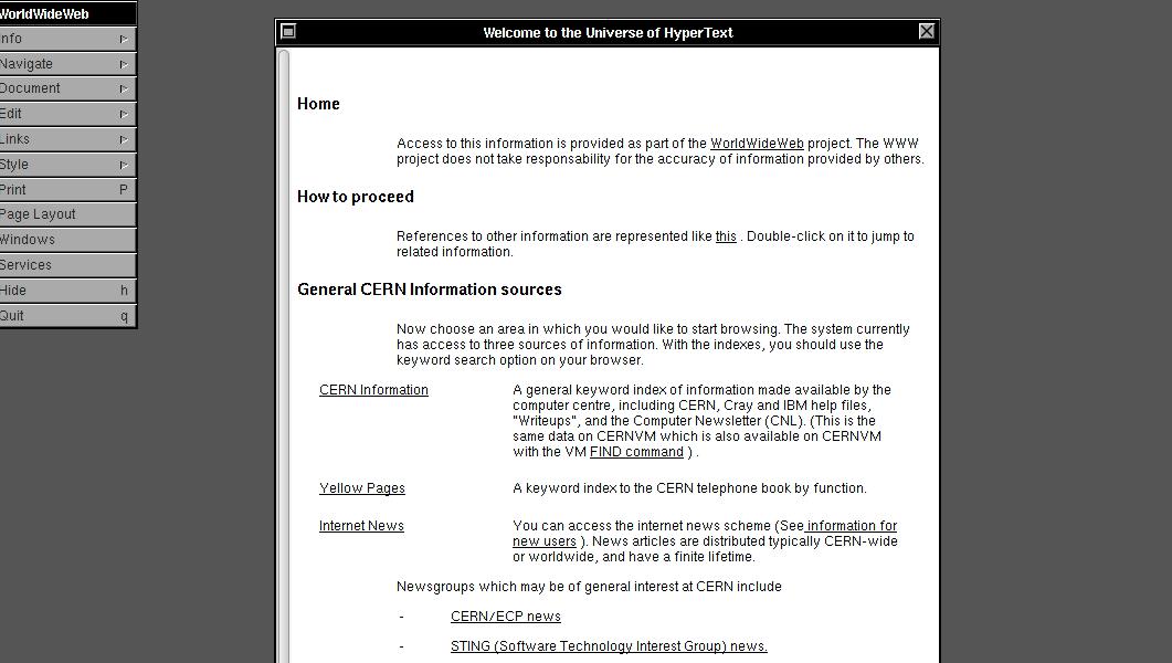 Le premier navigateur WEB